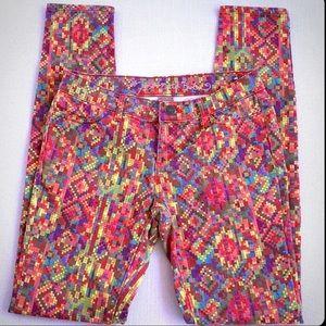 PRINCESS VERA WANG Skinny Geometric Stretch Jeans